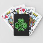 Celtic Shamrock Bicycle Playing Cards