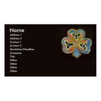 Celtic Shamrock Business Card
