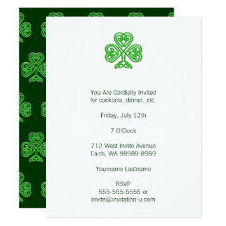 Celtic Shamrock Card