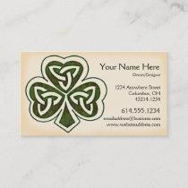 Celtic Shamrock Design 1 Irish Business Card