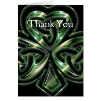 Celtic Shamrock Design 2 Customizable Card