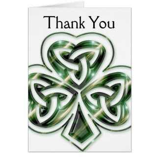Celtic Shamrock Design 2 Customizable Card 2