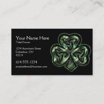 Celtic Shamrock Design 2 Irish Business Card