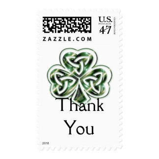Celtic Shamrock Design 2 Postage Stamps