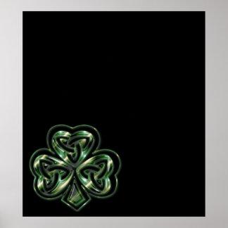 Celtic Shamrock Design 2  Poster/Print Poster