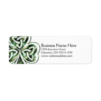 Celtic Shamrock Design 2 Return Address Labels
