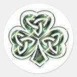 Celtic Shamrock Design 2 Stickers 2