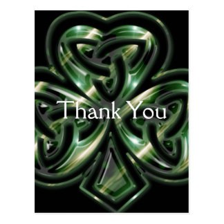 Celtic Shamrock Design 2 Thank You Postcards