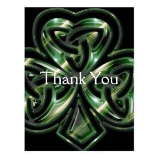Celtic Shamrock Design 2 Thank You Postcards