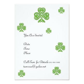 Celtic Shamrock Design Card