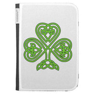 Celtic Shamrock Design Kindle Folio Case