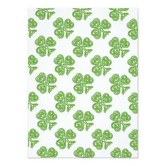 Celtic Shamrock Design 5.5x7.5 Paper Invitation Card