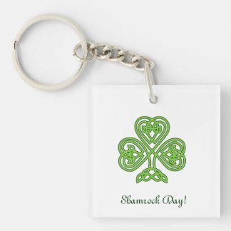 Celtic Shamrock Design Keychain