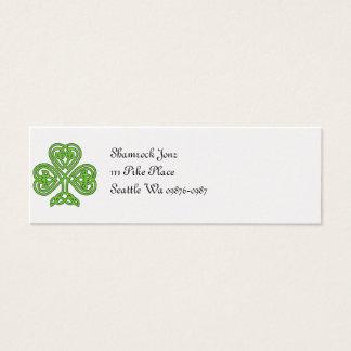 Celtic Shamrock Design Mini Business Card