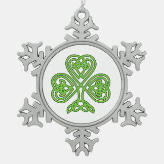 Celtic Shamrock Design Ornament