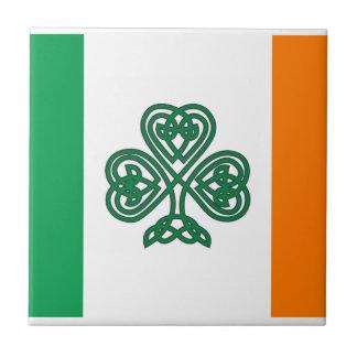 Celtic Shamrock Flag of Ireland Custom Tile