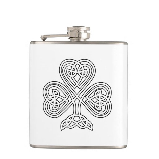 Celtic Shamrock for Saint Paddy's Day Flasks