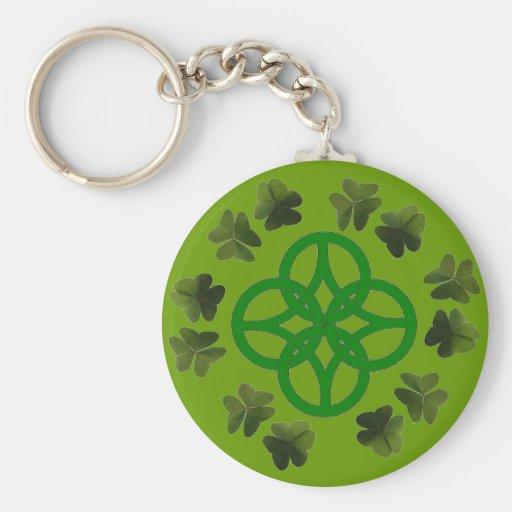 Celtic Shamrock Knot Keychain