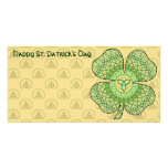 Celtic Shamrock Photo Card