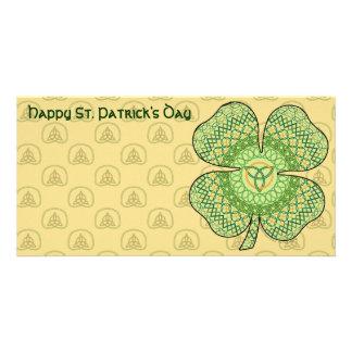 Celtic Shamrock Photo Card