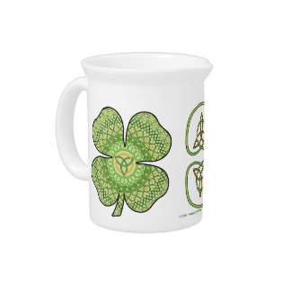 Celtic Shamrock Pitcher