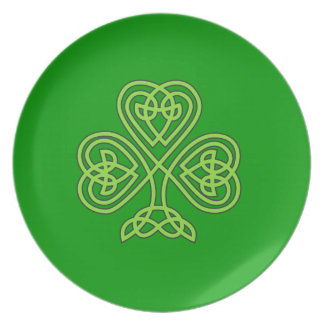 Celtic Shamrock Dinner Plates