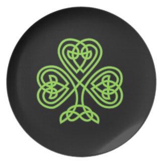Celtic Shamrock Plate