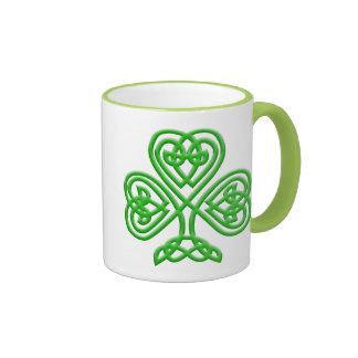 Celtic Shamrock Ringer Mug