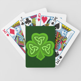 Celtic Shamrock Saint Patrick's Day Bicycle Playing Cards