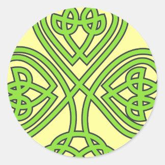 Celtic Shamrock Classic Round Sticker