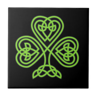 Celtic Shamrock Tile