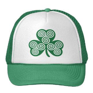 Celtic shamrock trucker hat