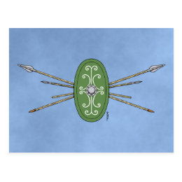 Celtic Shield and Spears Postcard