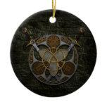 Celtic Shield And Swords Ceramic Ornament