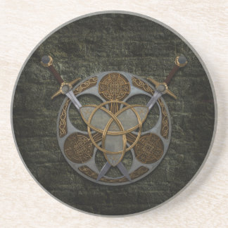 Celtic Shield And Swords Coaster