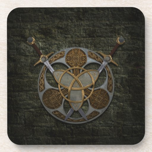 Celtic Shield And Swords Drink Coasters