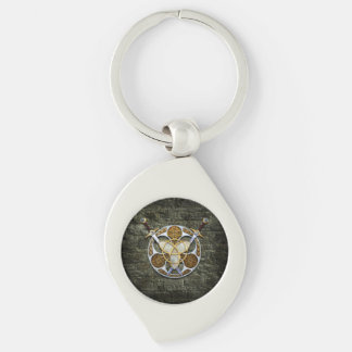 Celtic Shield and Swords Keychain