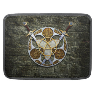Celtic Shield and Swords Sleeves For MacBook Pro