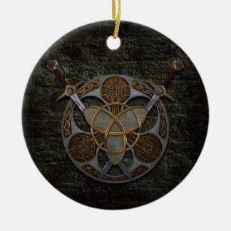 Celtic Shield And Swords Ornament