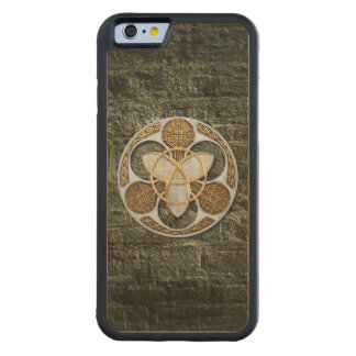 Celtic Shield Carved Maple iPhone 6 Bumper Case