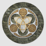 Celtic Shield Classic Round Sticker