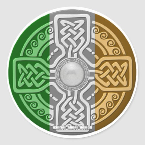 Celtic Shield Classic Round Sticker