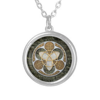 Celtic Shield Round Pendant Necklace