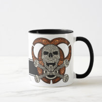 Celtic Skull & Biohazard Coffee Mug