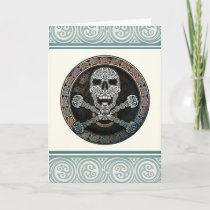 Celtic Skull & Crossbones Greeting Card