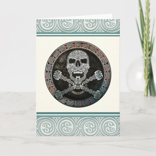 Celtic Skull & Crossbones Greeting Card