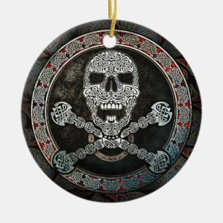 Celtic Skull Crossbones Pendant Ornament
