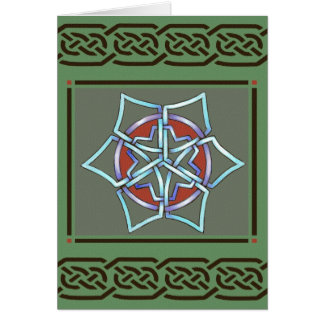 Celtic Snowflake Yule Card