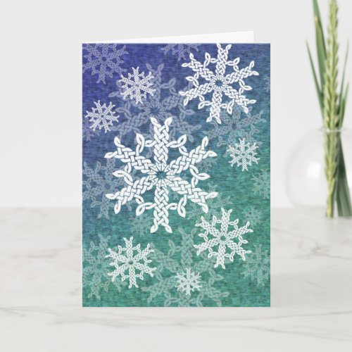 Celtic Snowflakes Greeting Card