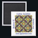 "Celtic Solstice Magnet<br><div class=""desc"">Celtic Solstice magnet,  2 inches square</div>"